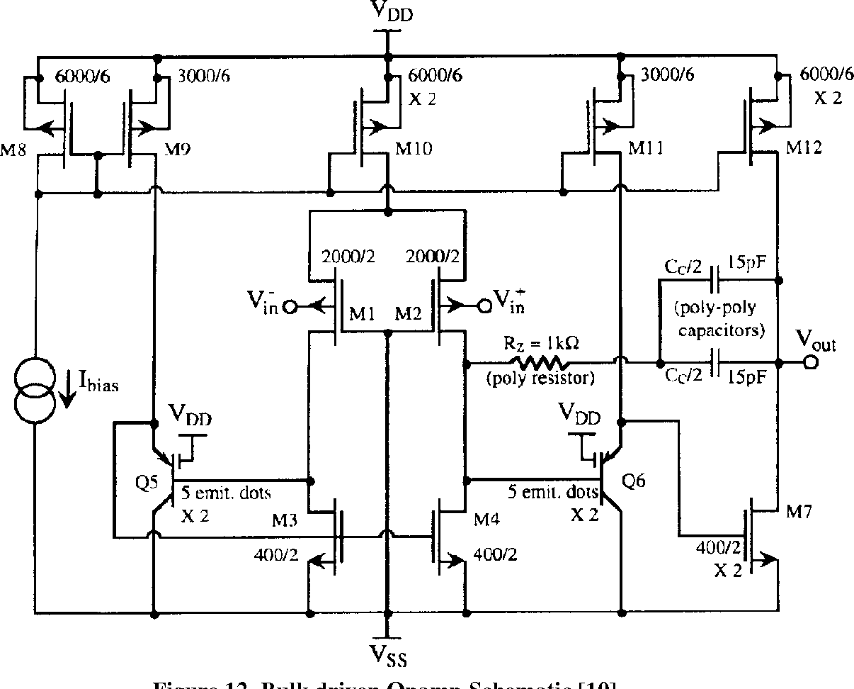 Figure 12 from Low Voltage Standard CMOS Opamp Design ... on