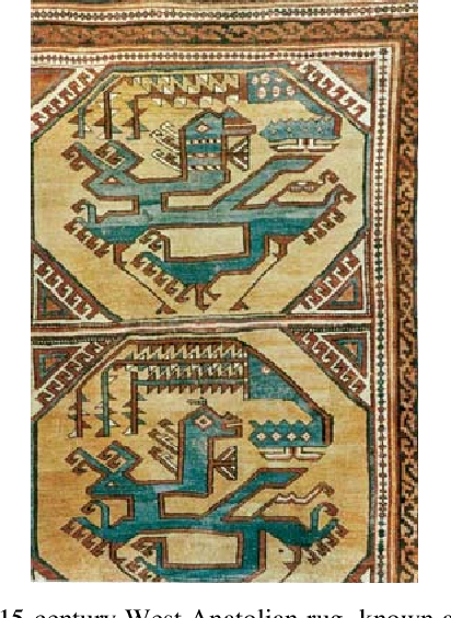 Fig. 12: 15-century West Anatolian rug, known as the Ming rug (Aslanapa, 1987)