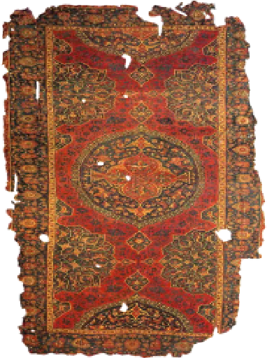 Fig. 15: UOak rug with medallion, 16th century (Aslanapa, 1987)