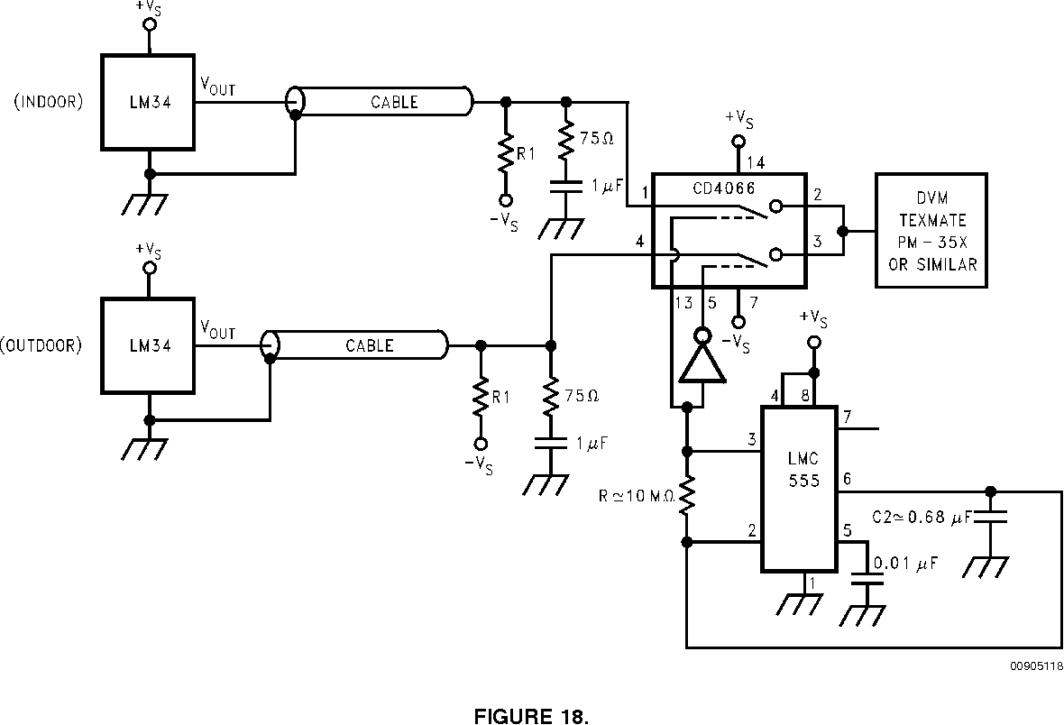 Lm35 Temperature Sensor Circuit Diagram Electronic Circuits Diagram