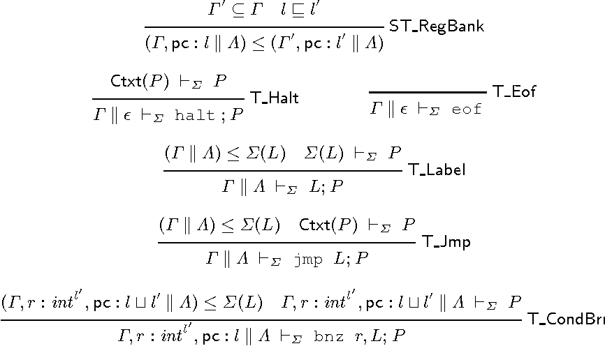 A Typed Assembly Language for Non-interference - Semantic