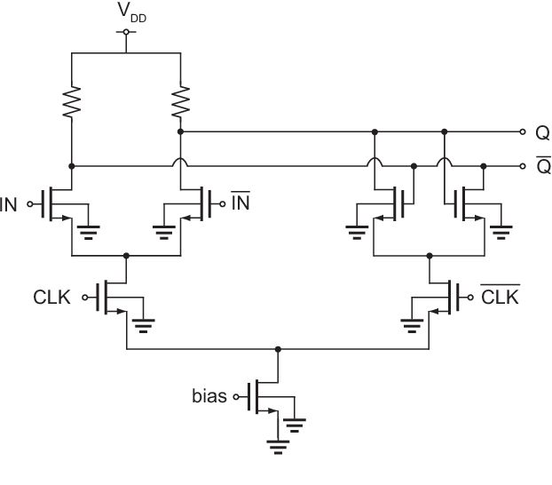 logic diagram of 1 to 4 demultiplexer figure 1 from an 8 9mw 25gb s inductorless 1 4 demux in 90nm cmos  inductorless 1 4 demux in 90nm cmos