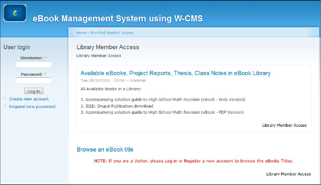 PDF] Offline eBook Management System using W-CMS - Semantic
