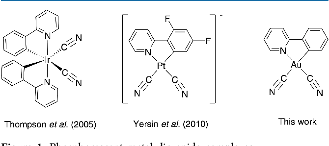 Figure 1 From Monocyclometalated Gold Iii Complexes Bearing P Accepting Cyanide Ligands Syntheses Structural Photophysical And Electrochemical Investigations Semantic Scholar