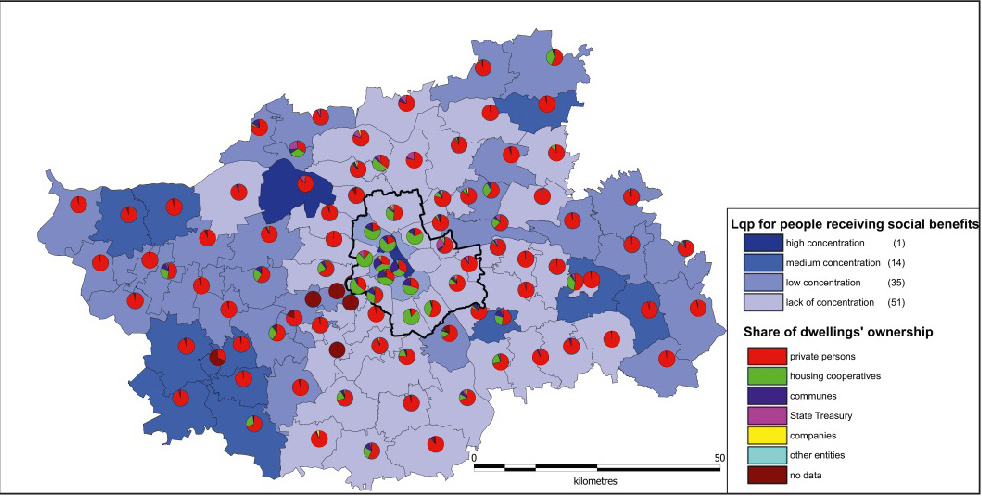 Residential Segregation in Warsaw and Its Metropolitan Area