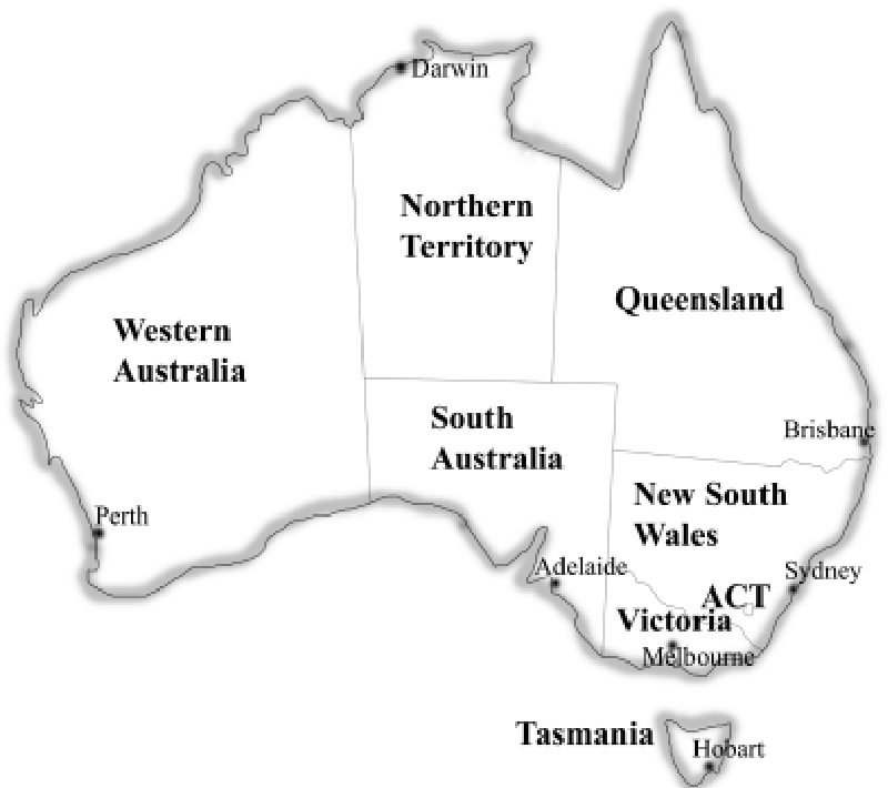 Map Of Australia States And Capital Cities.Figure 1 From Developmental Biology In Australia And New Zealand