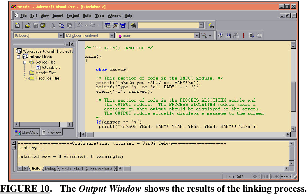 Figure 10 from Microsoft Visual C++ 6 0 Ide Tutorial