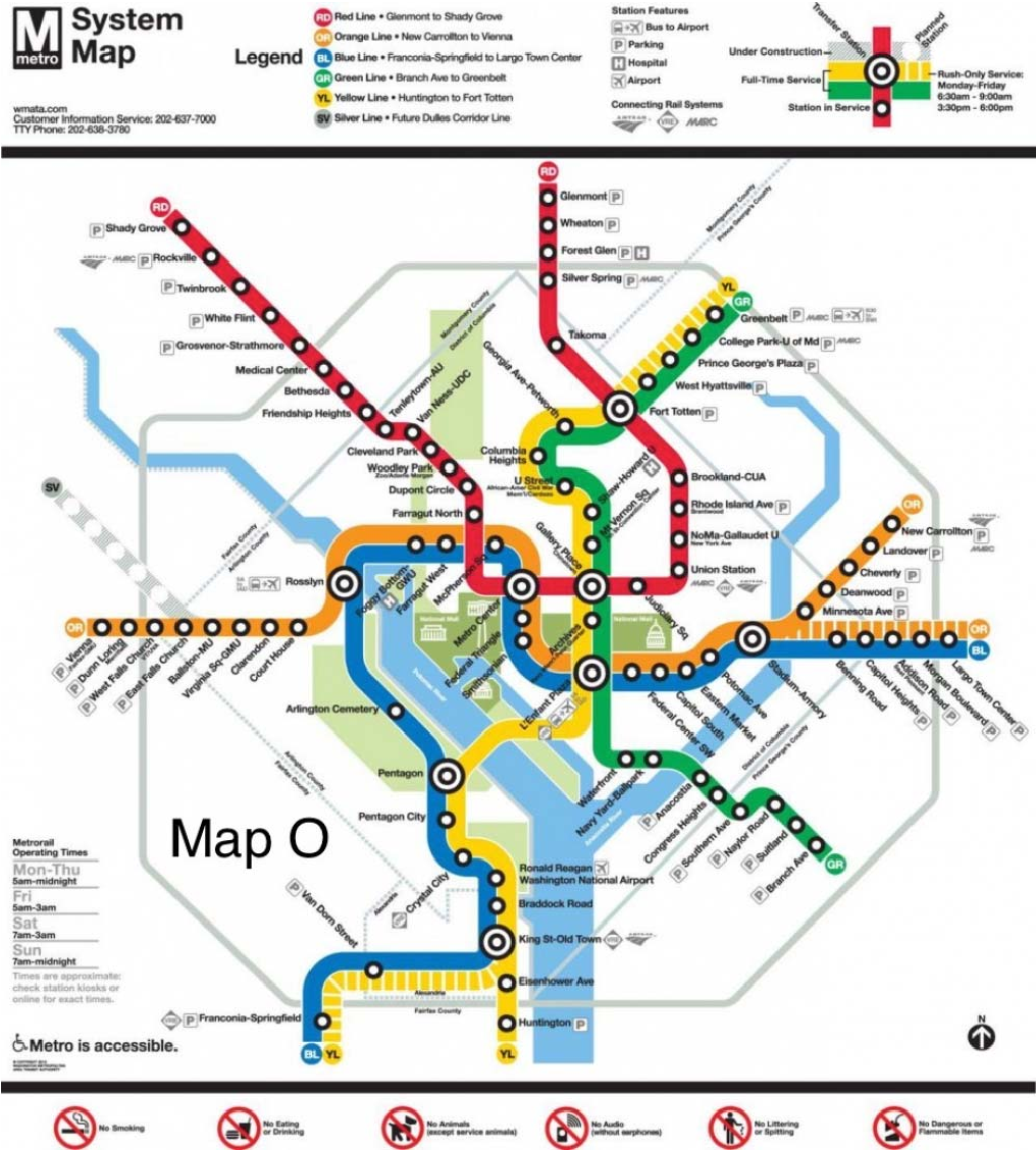 Washington Dc Subway Map.Figure 2 From Map Sensitivity Vs Map Dependency A Case Study Of