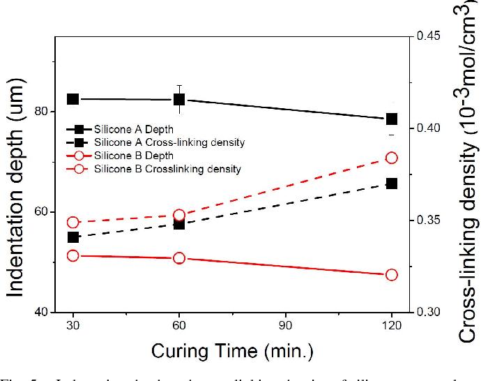 Effect of Cross-Linking Density of Silicone Encapsulant on