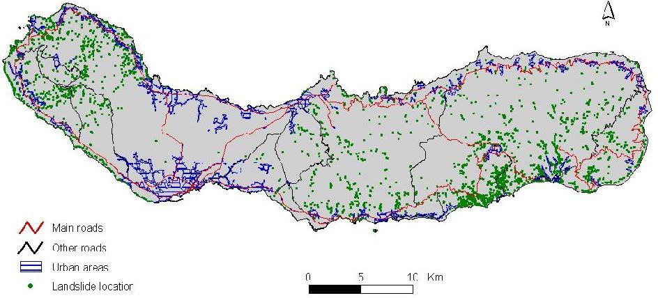 Figure 8 from Landslides density map of S. Miguel Island ...