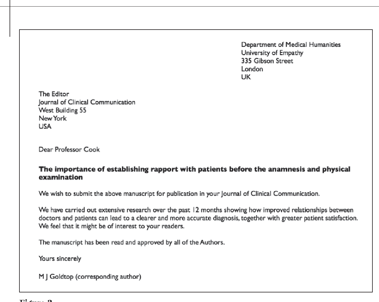 Medical Journal Cover Letter Best Display Comfortable