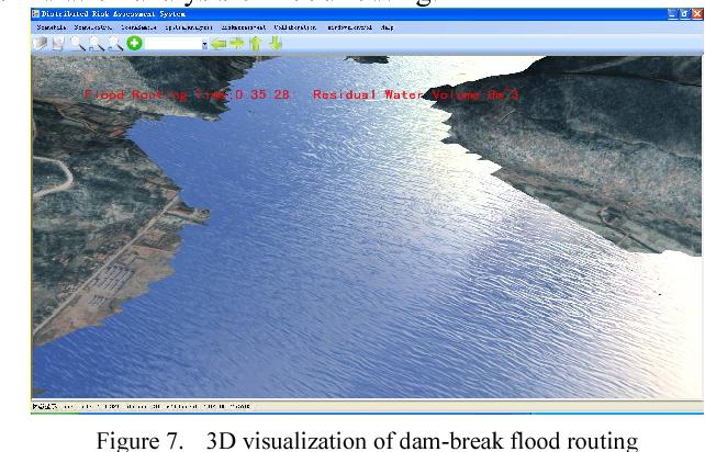 Application of web 3D GIS for dam-break flood medeling
