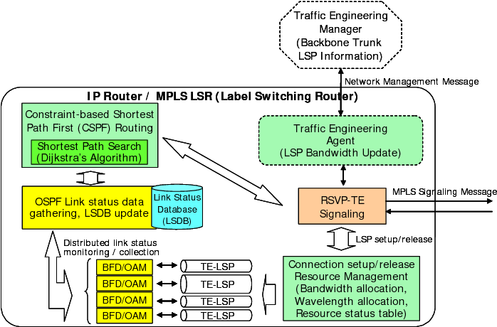 Management of DiffServ-over-MPLS Transit Networks with BFD