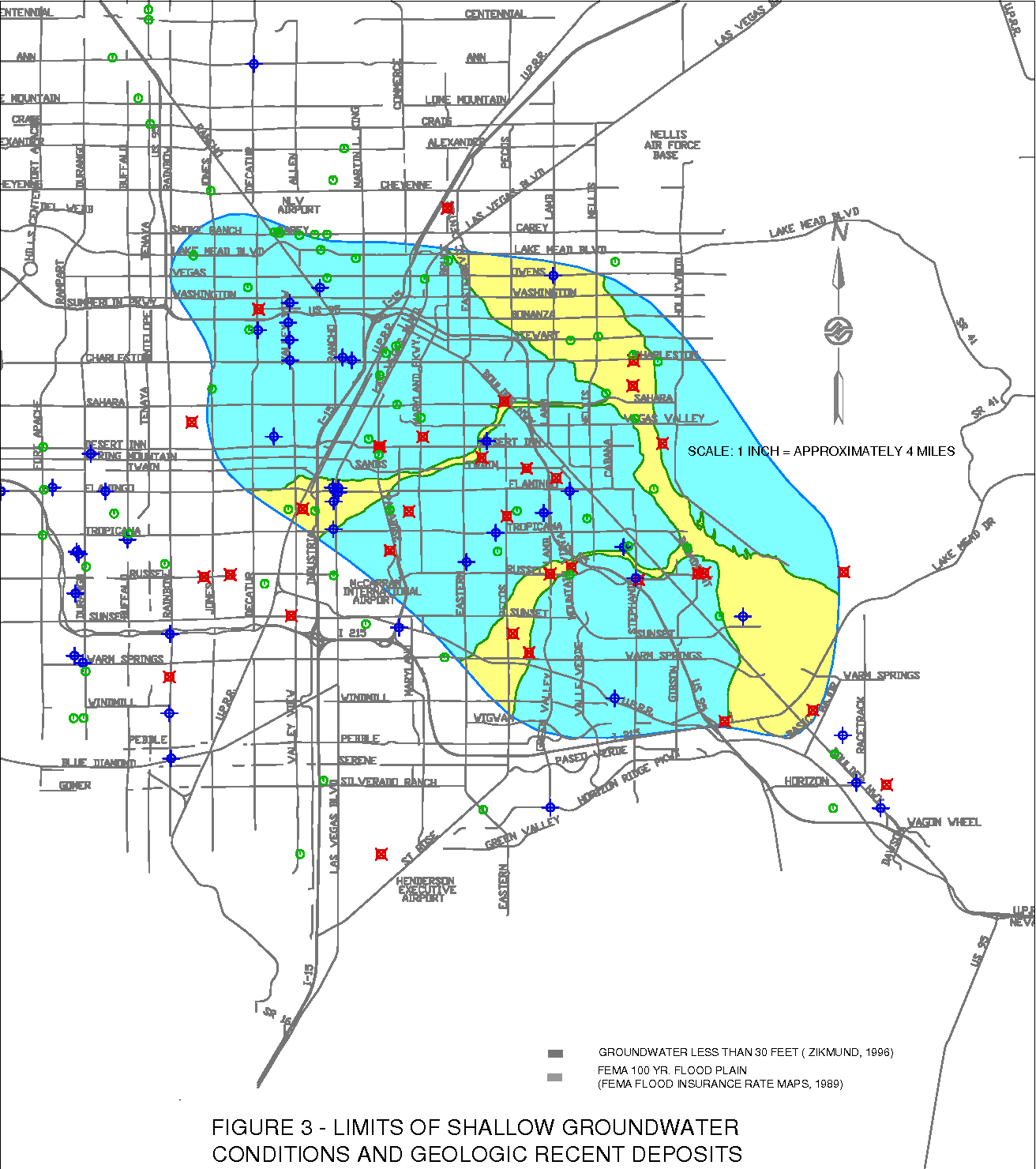 Figure 3 from A LIQUEFACTION HAZARD MAP OF THE LAS VEGAS ...