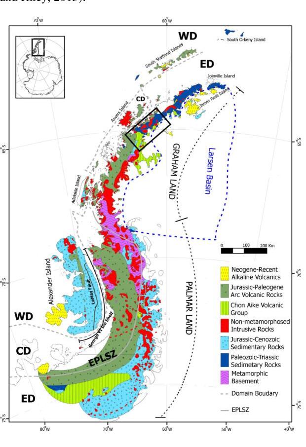 Figure 1 from REGIONAL GEOLOGICAL MAPPING IN THE GRAHAM LAND OF ANTARCTIC  PENINSULA USING LANDSAT-8 REMOTE SENSING DATA | Semantic Scholar