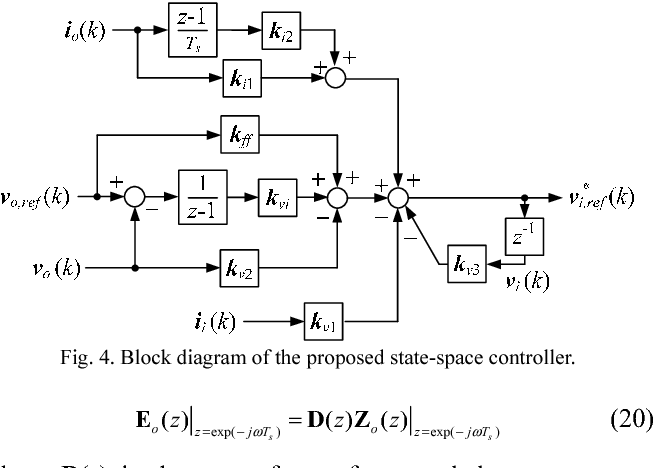 block diagram from state space figure 4 from discrete state space voltage controller for voltage  discrete state space voltage controller