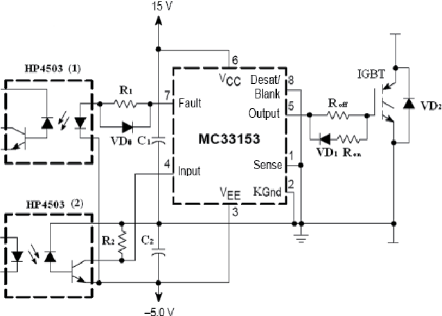 Figure 4 from The application of IGBT driver MC33153 ... on