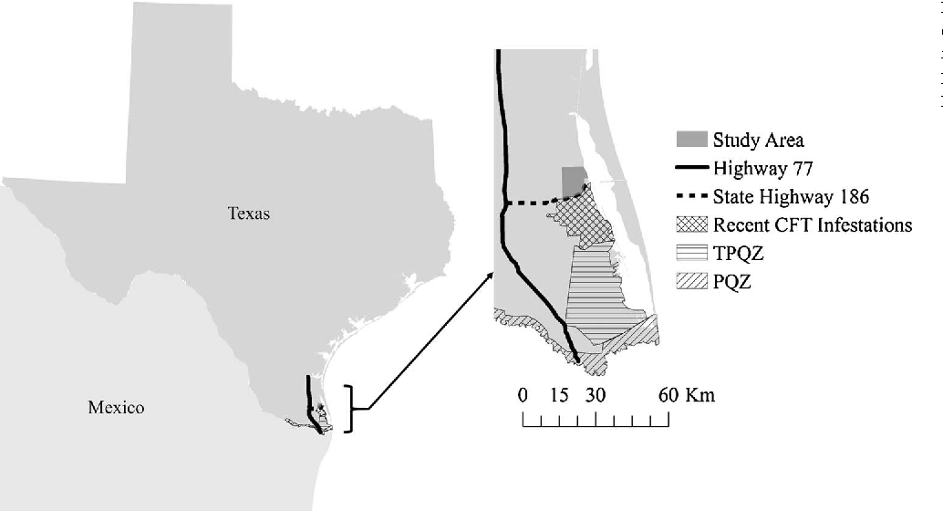 Map Of Texas Highway 77.Figure 1 From Movement Patterns Of Nilgai Antelope In South Texas