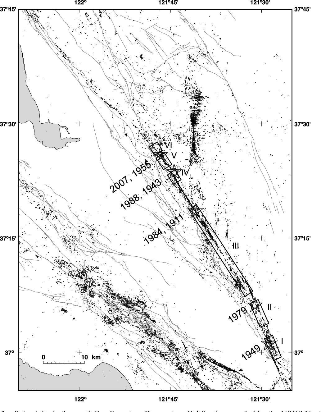 Figure 1 From The 2007 M5 4 Alum Rock California Earthquake Implications For Future Earthquakes On The Central And Southern Calaveras Fault Semantic Scholar