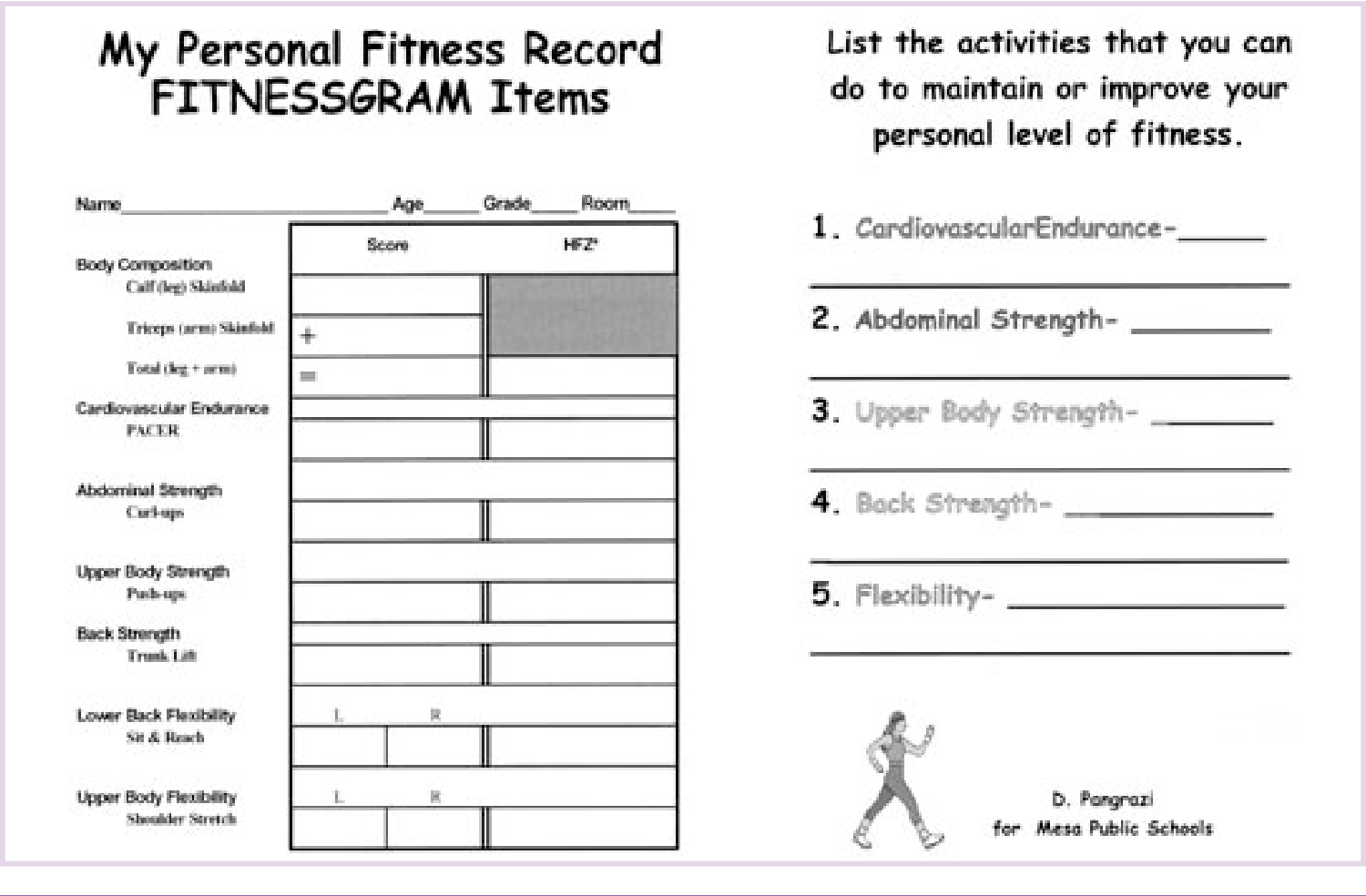 Pdf Using Self Assessment For Personal Fitness Evaluation Semantic Scholar Nifs offers two assessment packages you will not find in any other fitness facility. personal fitness evaluation