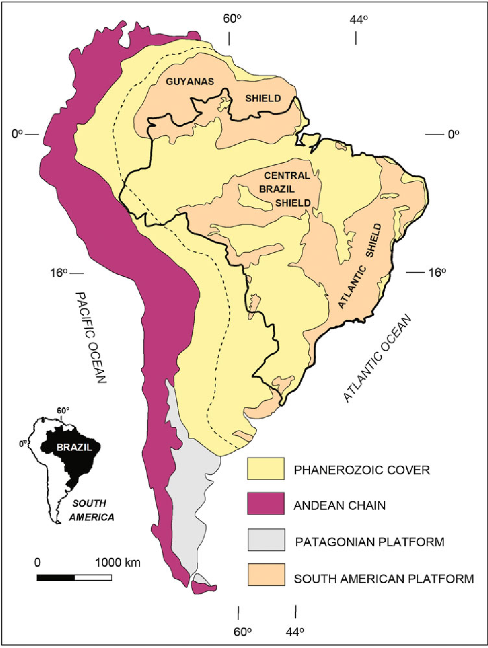 Figure 2.1 from 2 Geological Background : A Tectonic ... on landscape map of south america, industrial map of south america, agricultural map of south america, soil map of south america, peopling of south america, physical map of south america, geographical center of south america, grand tour of south america, natural map of south america, tectonic map of south america, linguistic map of south america, land use map of south america, map of volcanoes in north america, location of patagonia in south america, circumnavigation of south america, earthquake map of south america, precambrian north america, historic map of south america, thermal map of south america, large map of south america,