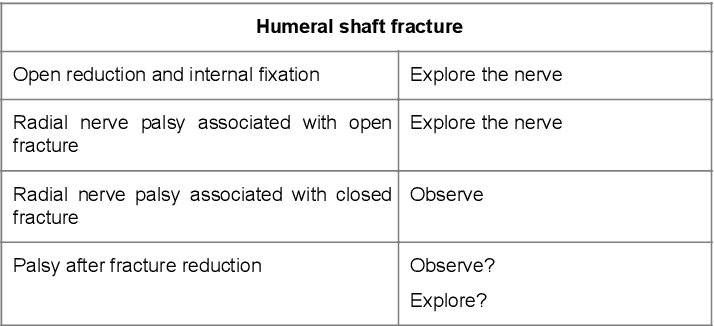 Radial Nerve Palsy after Humeral Fracture: To Explore or Not to Explore? -  A Case Report   Semantic Scholar