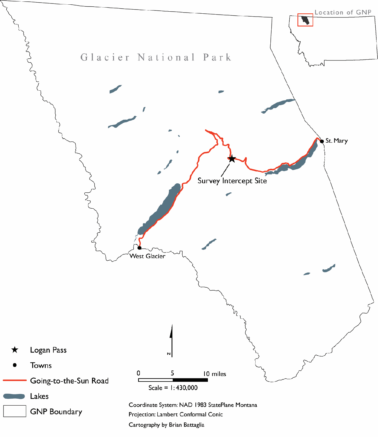 Figure 1 from Bicycle Mobility in Glacier National Park ... on arizona national parks maps, montana yellowstone national parks maps, alaskan national parks maps, yosemite backpacking trail maps,
