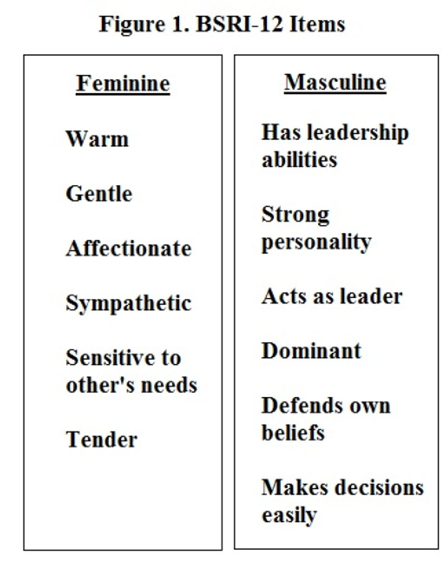 Pdf Masculinity, Femininity, And The Bem Sex Role Inventory In Turkey