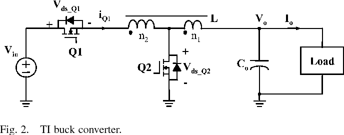 Tapped-inductor buck converter for high-step-down DC-DC
