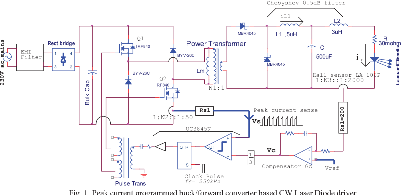 Figure 1 From High Power Pulsed Current Laser Diode Driver Semantic Scholar