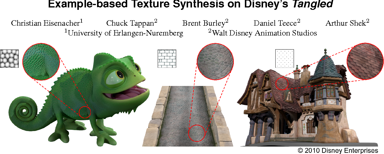 Figure 1 from Example-based texture synthesis on Disney's
