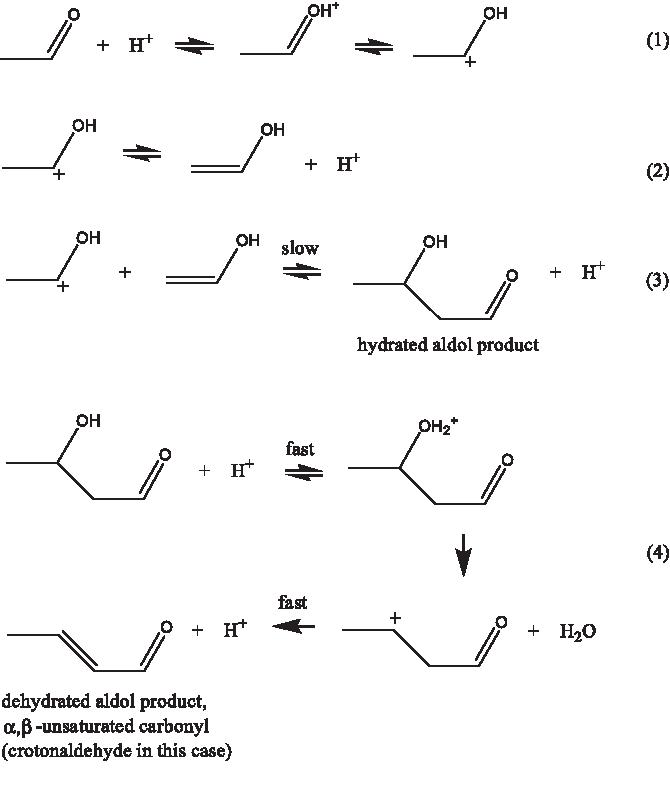 Figure 1 From Kinetics Of Acid Catalyzed Aldol Condensation