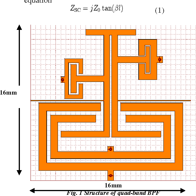 PDF] Design of a Micro strip Quad-Band Band pass Filter for