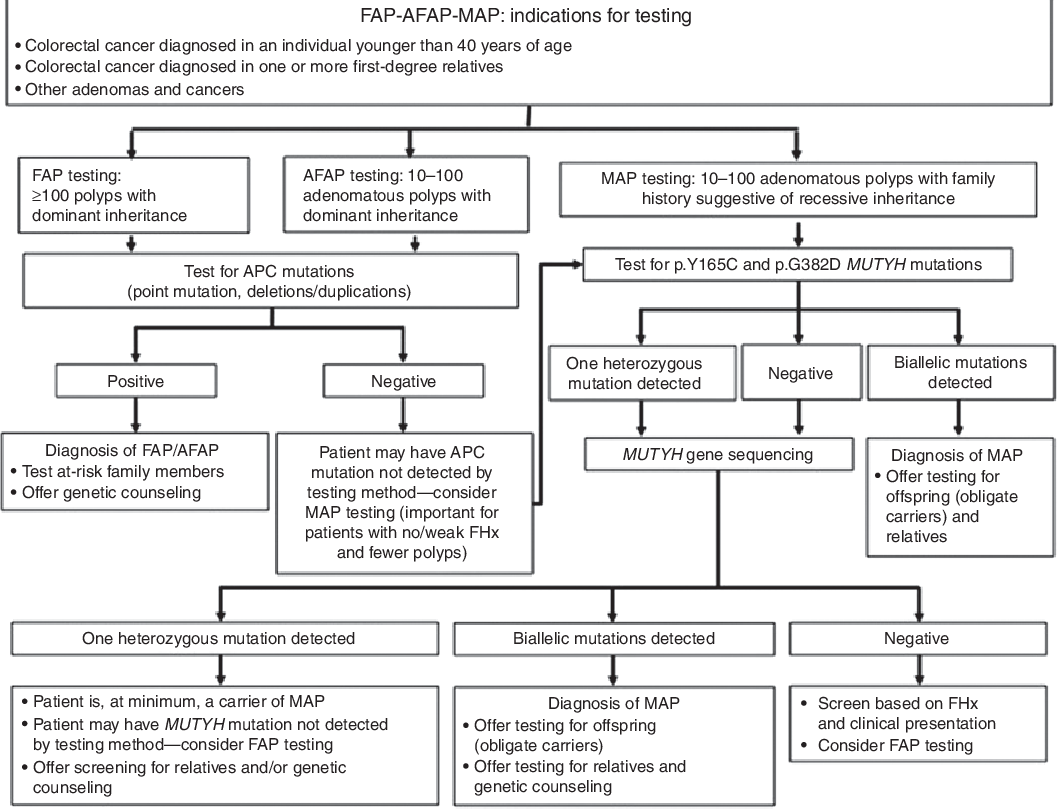 Figure 2 From Acmg Technical Standards And Guidelines For Genetic Testing For Inherited Colorectal Cancer Lynch Syndrome Familial Adenomatous Polyposis And Myh Associated Polyposis Semantic Scholar