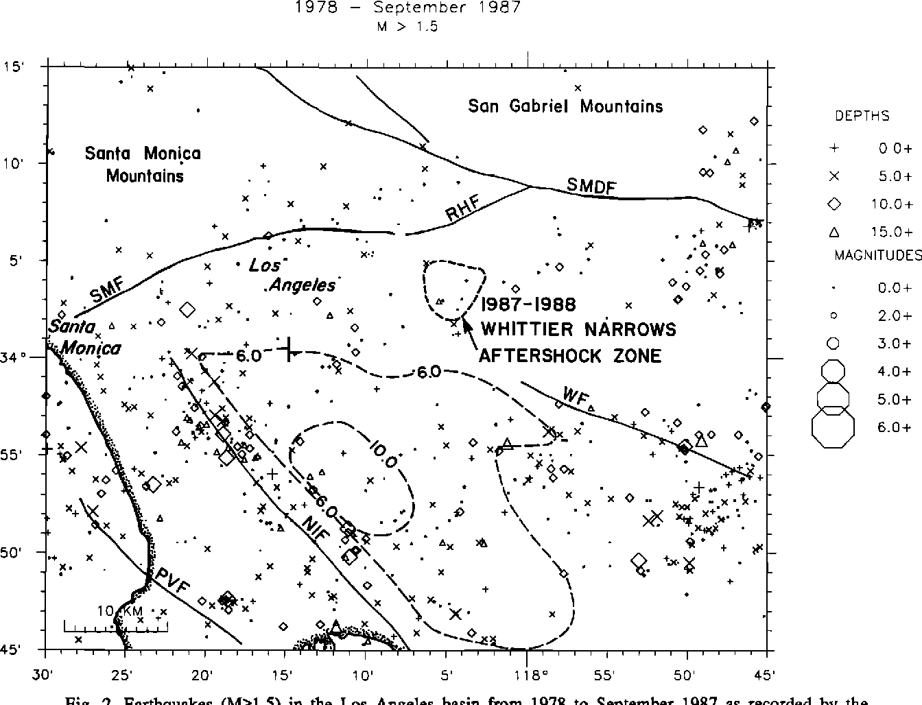 Figure 2 From The 1987 Whittier Narrows Earthquake Sequence In Los Angeles Southern California Seismological And Tectonic Analysis Semantic Scholar