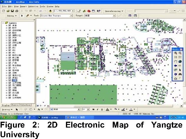 The implementation of campus 3D electronic map based on