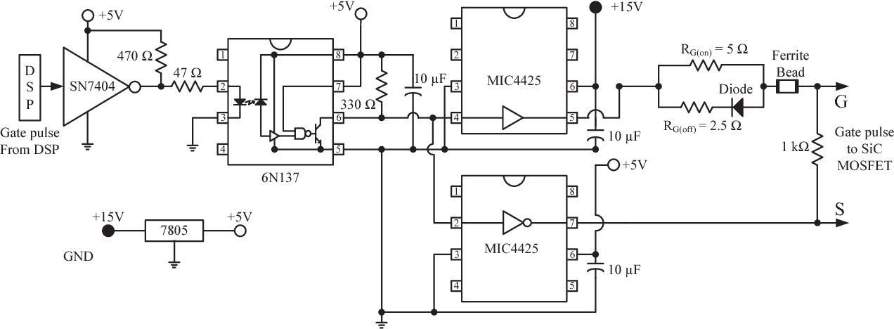 A gate driver circuit design for SiC MOSFET based three
