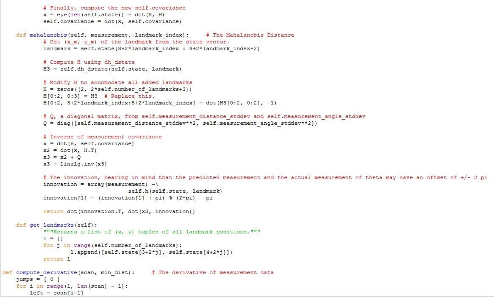 PDF] Extended Kalman Filter SLAM Implementation for a
