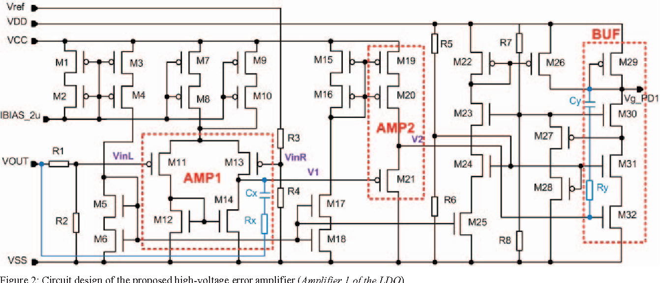Figure 2 from Design of a high-voltage rail-to-rail error