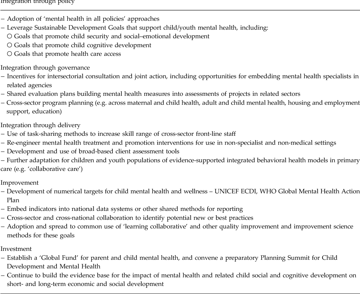 PDF] Converging on child mental health – toward shared