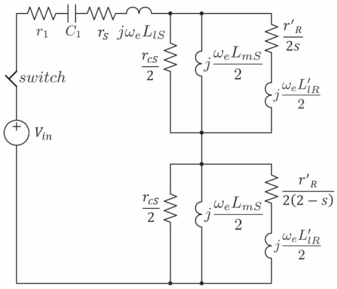 figure 2 from parameter estimation for single phase equivalent circuit of three phase induction motor slip in an induction motor