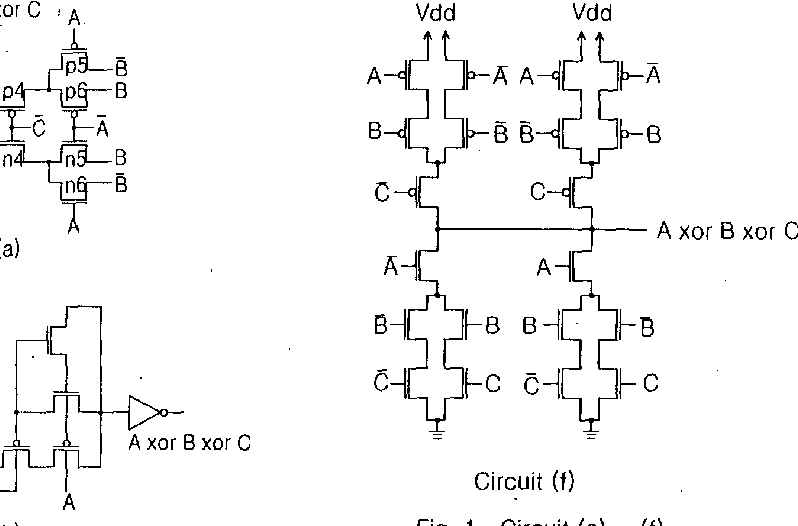 High efficient 3-input XOR for low-voltage low-power high ...