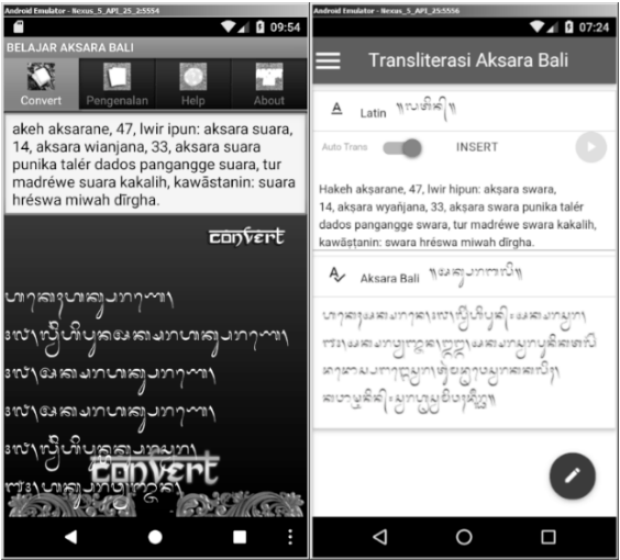 Latin To Balinese Script Transliteration Method On Mobile Application A Comparison Semantic Scholar