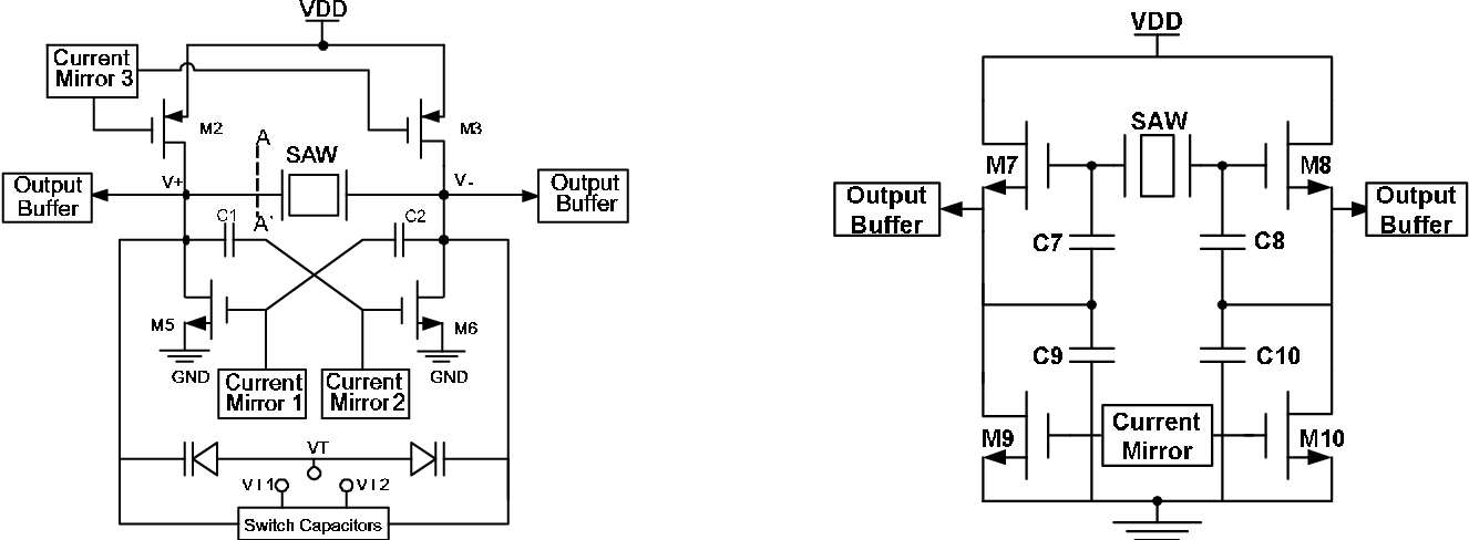 Figure 2 from Balanced SAW oscillators with cross-coupled