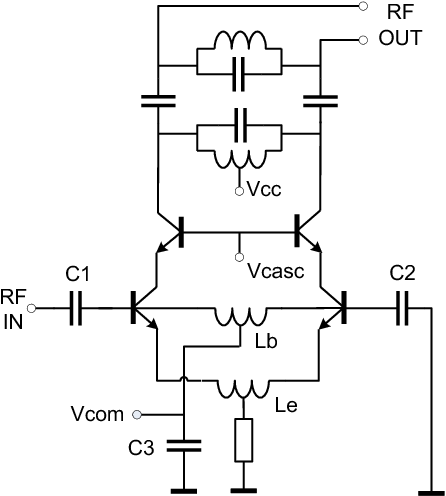 c band lnb circuit diagram figure 2 from a low power 9 75 10 6ghz down converter ic in sige c  down converter ic