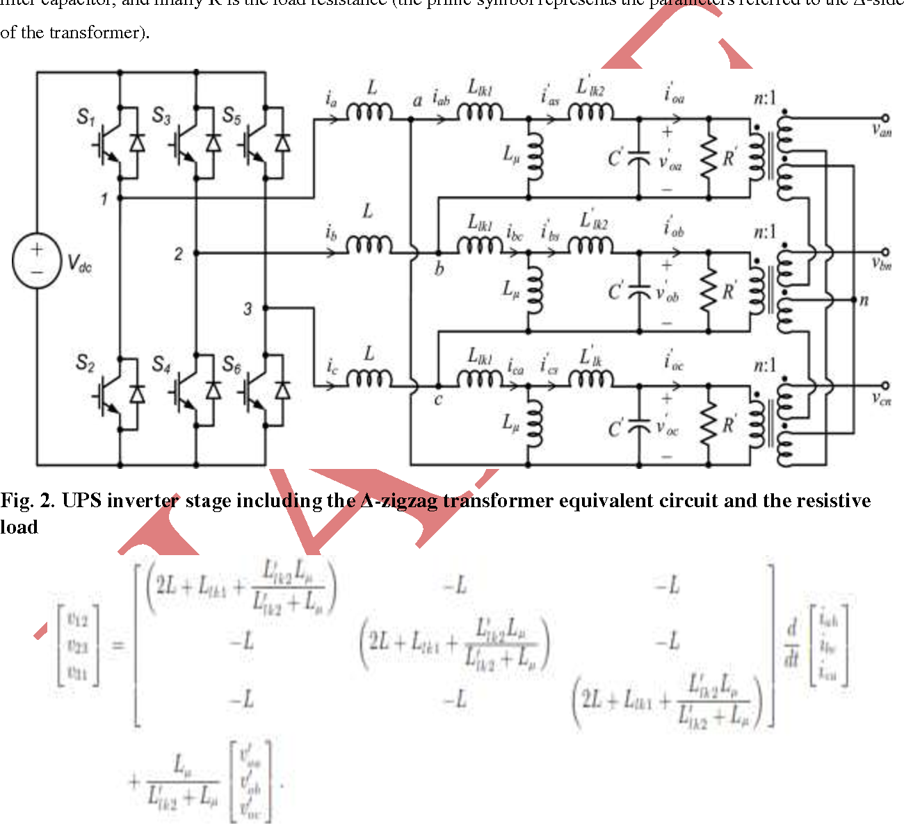 Figure 2 from A SPWM CONTROLLED THREE-PHASE UPS FOR