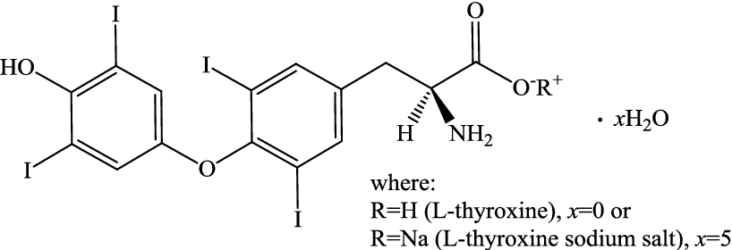 Thermal Stability Of Synthetic Thyroid Hormone L Thyroxine And L