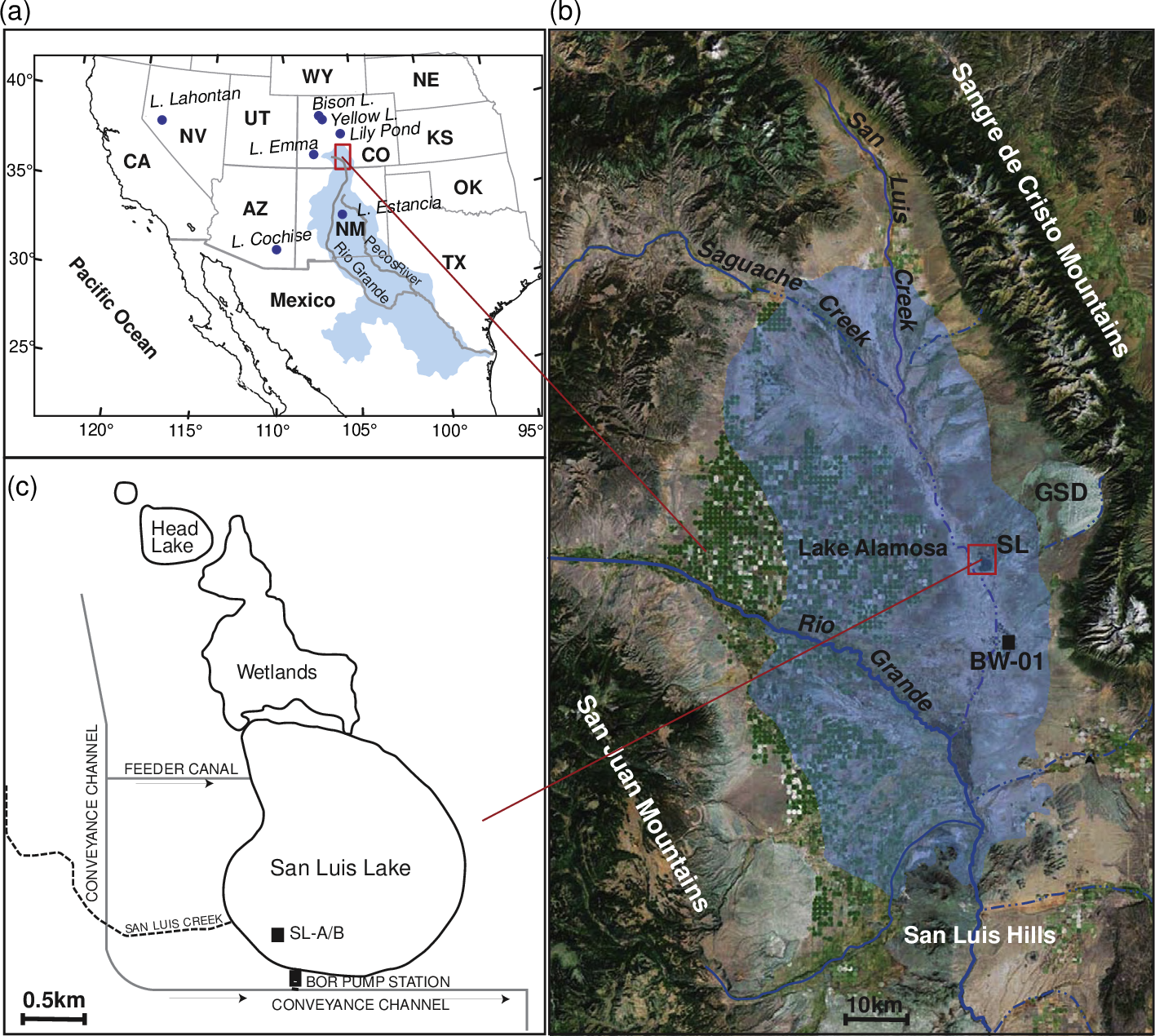 Figure 1 from Late Glacial and Holocene Record of Climatic ... on rio colorado map, vale national forest colorado map, blm blanca wetlands map, san luis valley, sa luis co map, de san luis colorado map,
