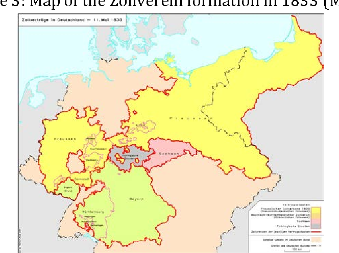 Map Of Zollverein Germany.Figure 3 From The Zollverein And The Sequence Of A Customs Union