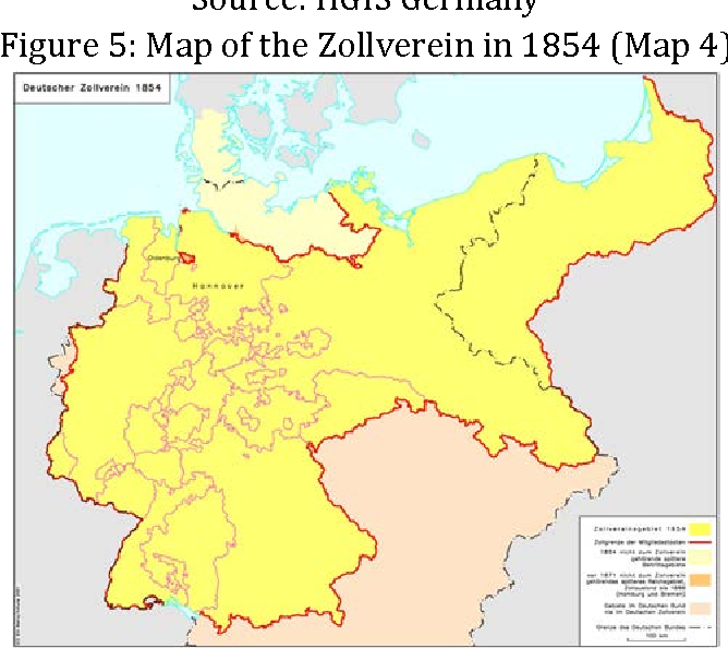 Map Of Zollverein Germany.Figure 5 From The Zollverein And The Sequence Of A Customs Union